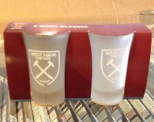 Officially Licensed West Ham United FC 2PK Frosted Shot Glass Set