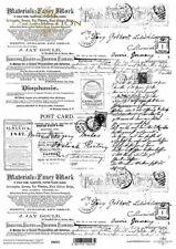 Printed Translucent Vellum Scrapbook  Paper A4 Vintage Newspaper Script