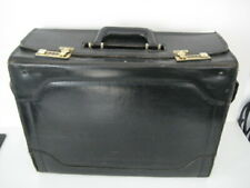 VINTAGE PILOTS MAP BRIEF FLIGHT CASE ATTACHE FRANZEN COMBINATION LOCK LEATHER