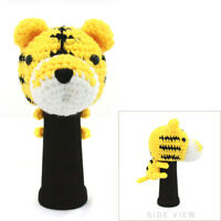 NEW! HAND STITCHED YARN ANIMAL DRIVER/WOOD HEAD COVER - DOG/CAT/TIGER HEADCOVER