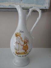 Vintage Holly Hobbie Ceramic Pitcher Vase 1973 Love is the Little Things You Do