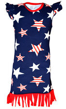 Toddler Kids Girls Dress Tank Vest Tops Fourth of July Outfit Set Clothes USA