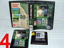 SEGA Genesis Game: PGA Tour Golf, release year 1991 with case & manual