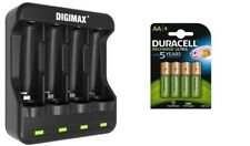 U4 SMART FAST LED AA/AAA CHARGER 4 x AA 2500 mAh DURACELL RECHARGEABLE BATTERIES