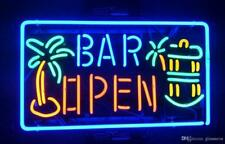"""New Wine Palm Tree Open Rum Whiskey Beer Bar Neon Light Sign 24""""x20"""""""