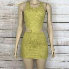 Minkpink Women Dress Body Con Textured Exposed Zipper Cutout Waist Sleeveless S