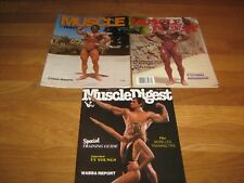 3 Lot MUSCLE DIGEST Bodybuilding magazines/ Christensen w/posters 1976,1980 1983