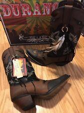 Durango Crush Cowgirl Western Boots DRD0065 Gypsy Underlay Women's 9.5 M