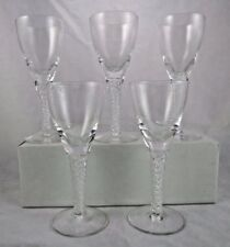 Vintage Stuart Crystal Ariel Port Wine Cordial Glasses Air Twist 5 3/8 Set of 5