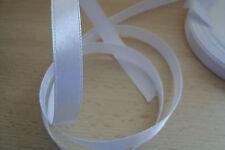 ** Satin Ribbon, White Colour 10mm x 5 Mtres**