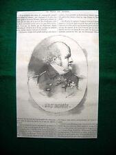 Gravure année 1860 sir John Franklin