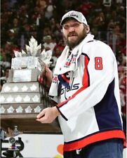Alex Ovechkin Washington Capitals With Conn Smythe Trophy 8x10 Photo
