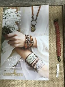 New Lenny & Eva Jewelry Beaded Claw Link Bracelet Sentiment Peach Faceted L