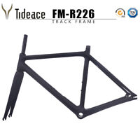 Carbon Track Bike Frame 700C Fixed Gear Bicycle Frameset with Rim Brake Forks