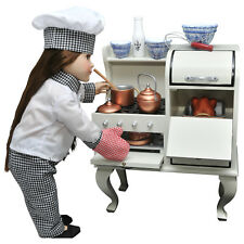 18 Inch Doll VINTAGE STYLE WOOD STOVE & OVEN For American Girl Kitchen Furniture