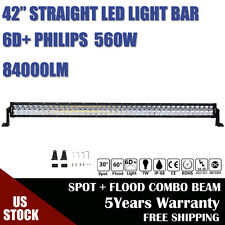 "lumiled 560W 42INCH LED Work Light Bar Spot Flood For Dodge GMC 4WD 40"" 44"" 6D+"