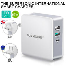 Sumvision 65W PD USB Type C Power Delivery Multi Port Charger for Phone Laptop