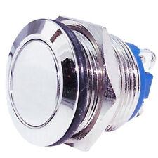Klingeltaster 3 A silber Drucktaster R1384A Taster 125 V Einbaudrucktaster