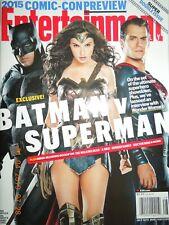 BATMAN VS. SUPERMAN & WONDER WOMAN entertainment weekly COMIC-CON 2015 no label