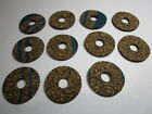 """11 Cork Rings Brown Rubberized 3/32"""" x 1-5/16"""" x 3/8"""" Bore make a tool handle"""