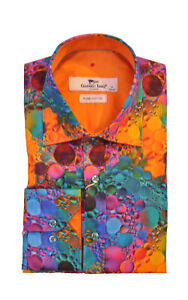Mens Claudio Lugli Colourful Bubbles Print Shirt CP6690