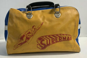 SUPERMAN TOTE GYM BAG DC SUPER POWERS JUSTICE LEAGUE VINTAGE 1970s