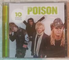 "10 GREAT SONGS by POISON (CD, 2009  - USA - Capitol) BRAND NEW, ""SEALED"""