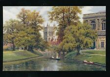Cambridgeshire Cambs CAMBRIDGE St Johns Artist Quinton c1930/40s? Salmon#1565PPC