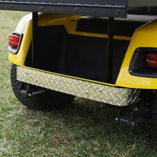 EZGO TXT Golf Cart Polished Diamond Plate Rear Bumper Cover