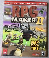 RPG Maker II Prima's Official Strategy Guide Playstation 2 PS2