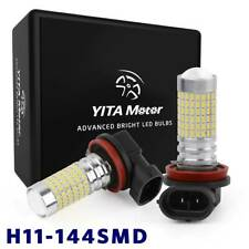 2x YITAMOTOR 6000K White LED H11 H16 Bulbs High Power 144 SMD Fog Driving Light