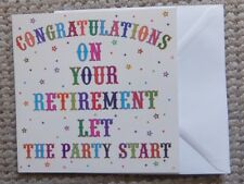 CONGRATULATIONS ON YOUR RETIREMENT Party Greetings Card