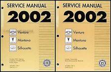 2002 Venture Montana Silhouette Shop Manual Set Chevy Pontiac Olds Chevrolet Van
