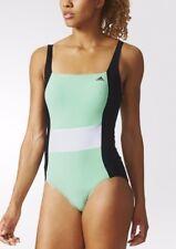 Adidas AK0060 Colour Block Swimsuit Mint Green Glow Black White L 38 40 44 14 16