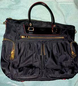 "MZ Wallace New York Black  Large 15"" Nylon Hand Bag Purse Satchel Mint"