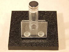 (1) BLACK textured Base Magnetic METEORITE Display Stand