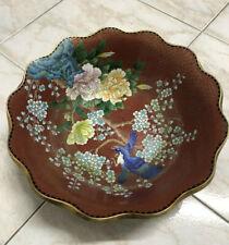 Vintage Grande Misura vaso Cinese cloisonne 40cm