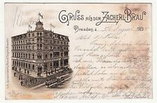Litho Ak Greeting From The Zacherl - Brew Dresden 1895! (A1621