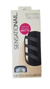 Sensationail Gel Matte Top Coat 73010 (Pack of 1)