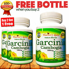 GARCINIA CAMBOGIA EXTRACT WEIGHT LOSS 1000mg 100% PURE ORGANIC BUY 2 GET 1