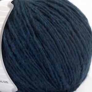 WOOL knitting yarn, Flamme NAVY, use 5 mm Needles, 4 Medium, worsted, aran