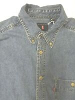 LEVI'S DENIM SHIRT MEN'S REGULAR FIT BUTTON DOWN MEDIUM MID BLUE LSHT699