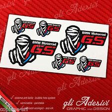 Set 6 Adesivi Stickers DAKAR BMW GS Motorrad Red & Blu