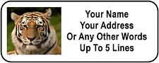 30 Tiger Personalized Address Labels