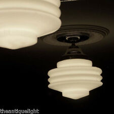 308 Vintage Ceiling Light Lamp Fixture Glass Re-Wired {5 tiered} 1 of 3