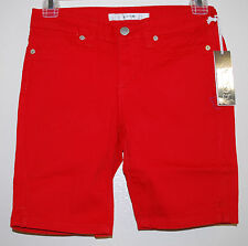 JOE'S JEANS Girls Solid RED Bermuda Stretch Everyday Cotton Shorts sz 12