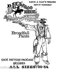 Buckaroo Bobbins Historic Pioneer  Mountainman Broadfall PANTS Sewing Pattern