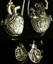 Halskette Medaillon Steampunk Herz Kette Golden Vampire Gothic Locket Necklace