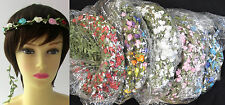 WHOLESALE 100 flower head bands wholesale head garlands HAIR GARLANDS £0.90 EACH