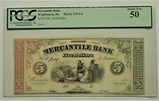 1860s Mercantile Bank $5 Currency Haxby 270-G4 Washington DC PCGS AU-50 INDIANS